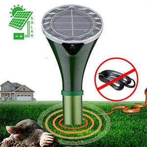 Hunters Pest Control 2 X Solar Silent Snake Repellent Mole Repeller
