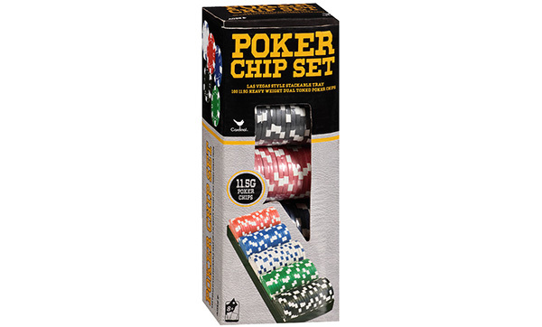 100 Ct. Poker Chips Set by Cardinal Industries