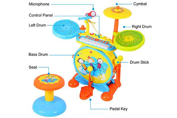 ANTAPRCIS Piano Keyboard Drum Set