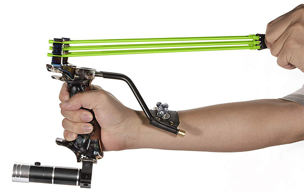 Adjustable Stainless Hunting Laser Slingshot