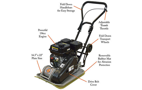 Dirty Hand Tools 104001 Vibratory Plate Compactor