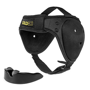 Gold BJJ Headgear for Wrestling