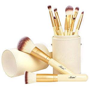 Matto 10-Piece Golden Makeup Set