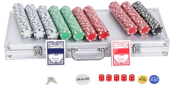 Smartxchoices 500 Poker Chip Set Clay Casino Poker Chips