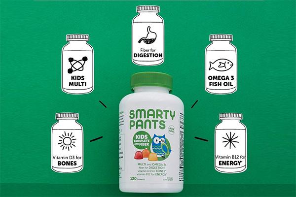 SmartyPants Kids Complete and Fiber Gummy Vitamins Nutrition
