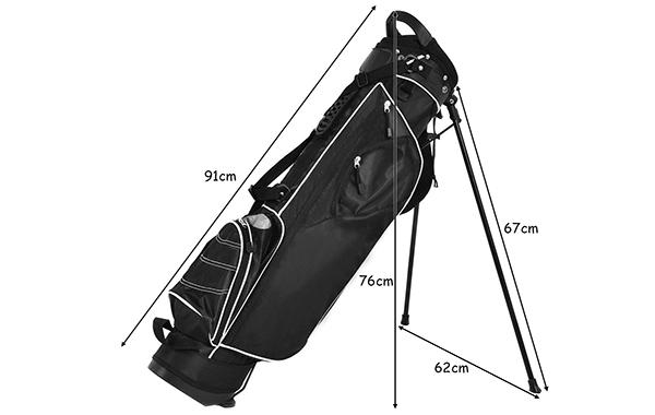 Tangkula Stand Bag Lightweight Organized Golf Bag