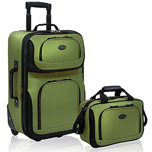 U.S Traveler Rio Two-Piece Carry-on Luggage Set