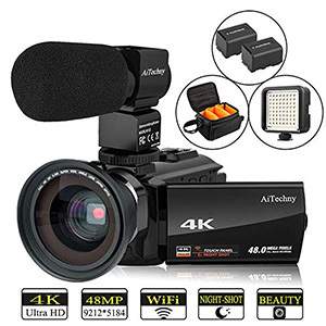 Video Camera 4K Camcorder -AiTechny