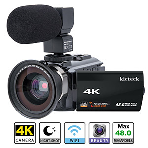 Video Camera Camcorder 4K -Kicteck