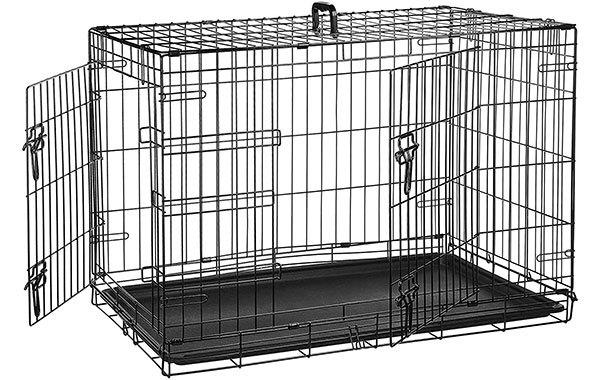 Amazon Basics Folding Metal Dog Crate