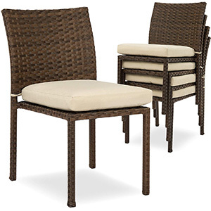 Best Choice Products Set of 4 Outdoor Patio Wicker Chairs