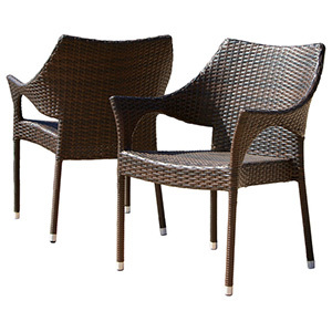 Del Mar Outdoor Wicker Stacking Chairs