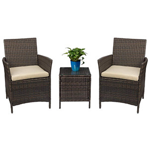 Devoko Patio Porch Furniture PE Rattan Wicker Chairs