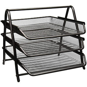 Greenco Mesh 3 Tier Document Letter Tray - Desk Organizer