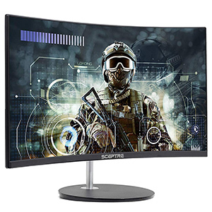 "Sceptre 24"" Curved 75Hz Gaming LED Monitor"