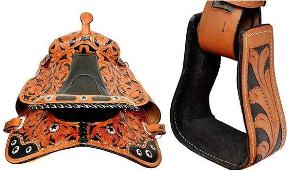Zohran Carved Leather Horse Saddle