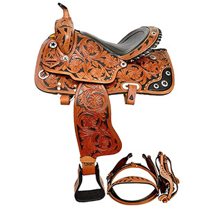Zohran Carved Leather Horse Saddle