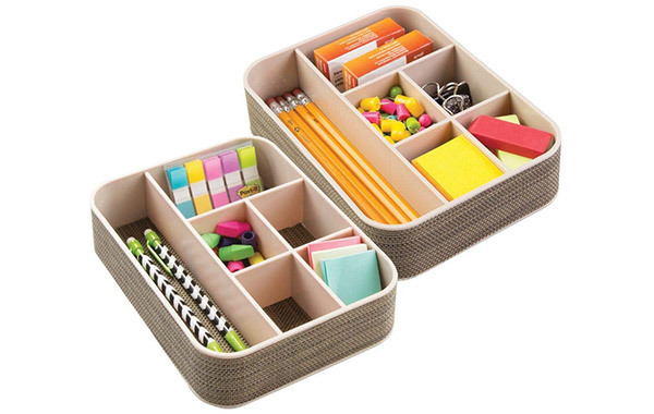 mDesign Office Supplies Desk Organizer Tray