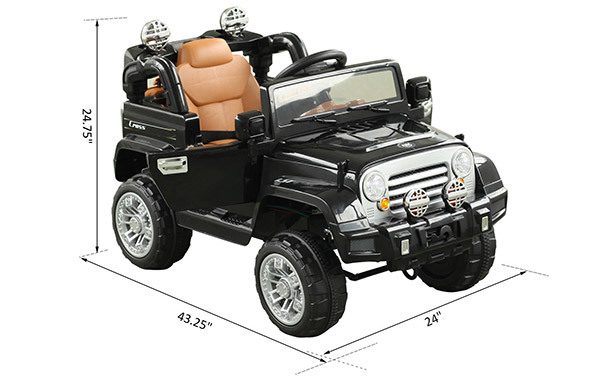 Aosom 12V Kids Battery Powered Off Road Truck with RC