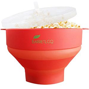 BARRETLGQ Silicone Microwave Popcorn Popper