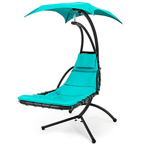 BCP Outdoor Hanging Curved Chaise Lounge Chair