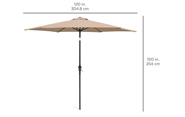 Best Choice Products 10ft Outdoor Steel Market Patio Umbrella