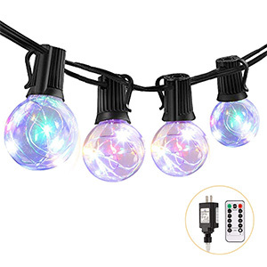 ECOWHO Globe Outdoor String Lights