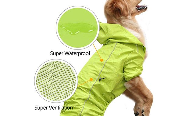 EVELOVE Dog Rain Jacket with Hood