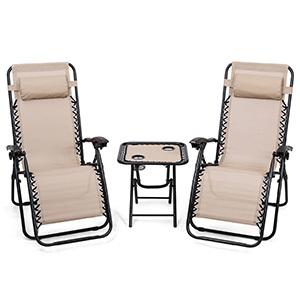 Giantex 3 PCS Zero Gravity Chair