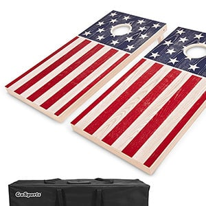 GoSports Flag Series Wood Cornhole Sets