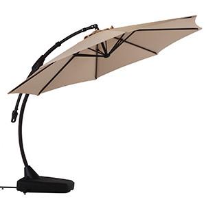 Grand Patio Napoli Deluxe 11 FT Curvy Offset Umbrella