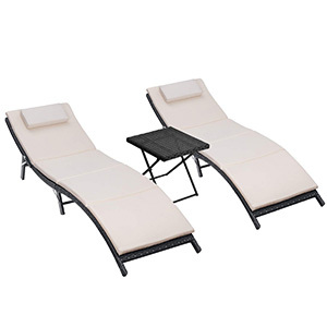 Homall 3 Pieces Outdoor Lounge Chair