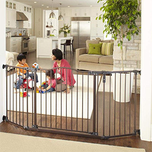 North States Wide Deluxe Décor Baby Gate