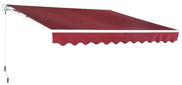 Outsunny Manual Retractable Patio Sun Shade Awning