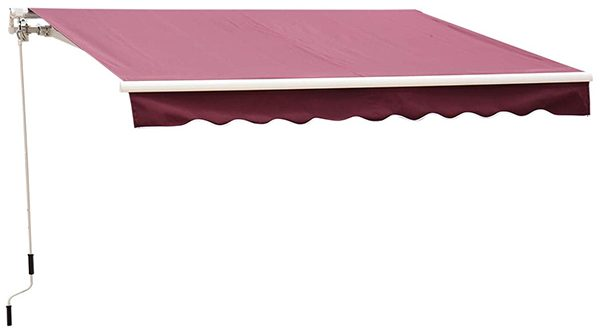 Outsunny Patio Manual Retractable Sun Shade Awning