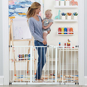 Regalo Extra WideSpan Walk Through Baby Gate