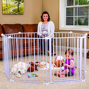 Regalo Super Wide Adjustable Baby Gate and Play Yard
