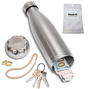 Stash-it Diversion Water Bottle Can Safe