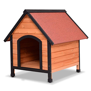 Tangkula Natural Wooden Dog House