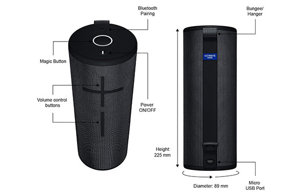 Ultimate Ears MEGABOOM 3 Bluetooth Speaker