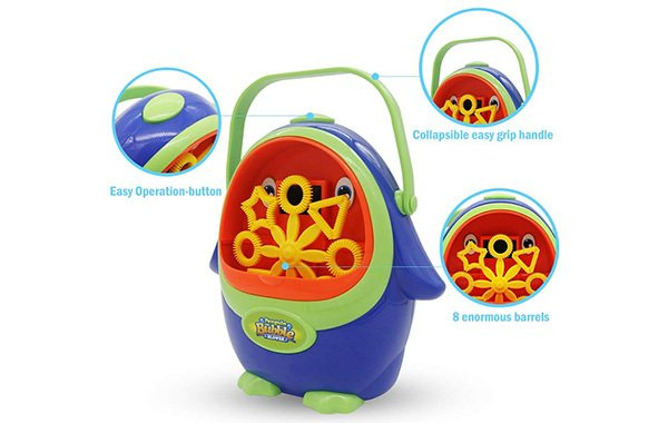 Wokashaka Penguin Bubble Machine