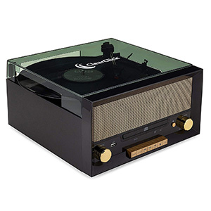 Clear Click All-in-One Turntable with CD Player
