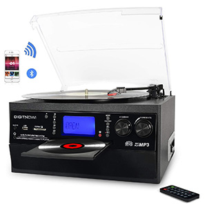 DIGITNOW Bluetooth Record Player