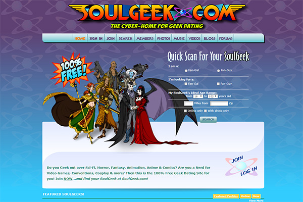 Geek online dating site