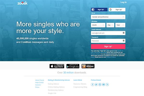 Online dating geen Sign ups