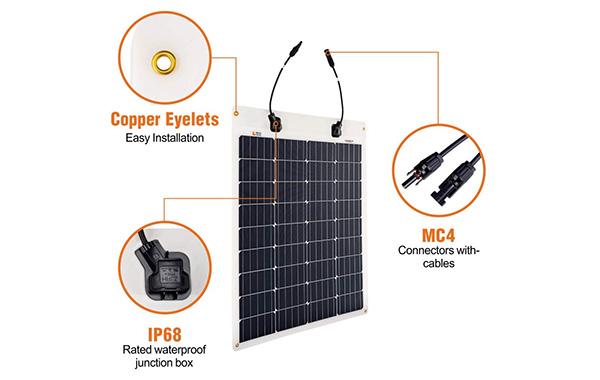 Richsolar Flexible Monocrystalline Solar Panel