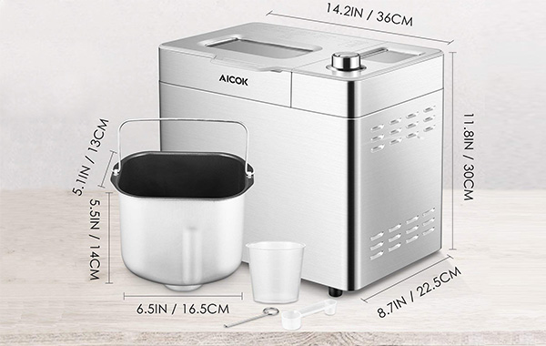 Aicok Stainless Steel Bread Machine