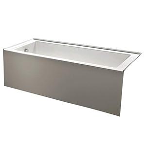 KINGSTON BRASS Contemporary Alcove Acrylic Bathtub