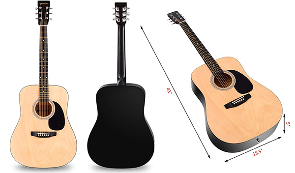Sonart Full Size Beginner Acoustic Guitar