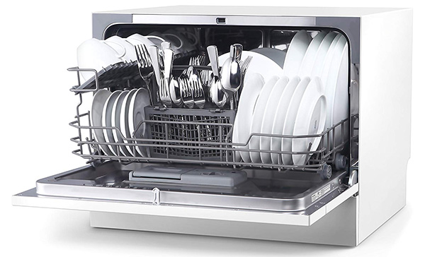hOmeLabs Compact Counter-Top Dishwasher